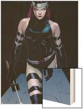 Uncanny X-Force No.3: Psylocke Walking Wood Print by Jerome Opena