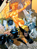 Secret Invasion: X-Men No.4 Cover: Wolverine and Phoenix Plastic Sign by Terry Dodson