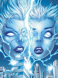 X-Men Forever 2 No.13 Cover: Storm and Ro Posing Plastic Sign by Tom Grummett