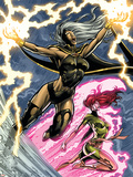 Uncanny X-Men: First Class No.6 Cover: Storm and Phoenix Plastic Sign by Paul Pelletier
