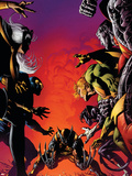 Wolverine: Origins No.29 Cover: Wolverine, Storm, Cyclops, Banshee, Colossus and Nightcrawler Plastikskilte af Mike Deodato