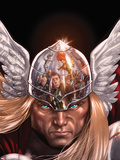 X-Factor No.212 Cover: Thor Posing Plastic Sign by David Yardin
