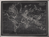 Ocean Current Map - Global Shipping Chart Print