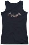 Juniors Tank Top: Arkham City - Bat Fill Tank Top