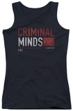 Juniors Tank Top: Criminal Minds - Title Card Tank Top