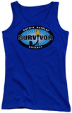 Juniors Tank Top: Survivor - Blue Burst Tank Top