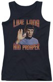 Juniors Tank Top: St Original - Live Long And Prosper Tank Top