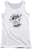 Juniors Tank Top: Dark Knight Rises - Penciled Knight Tank Top