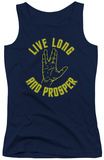 Juniors Tank Top: Star Trek - Live Long Hand Tank Top