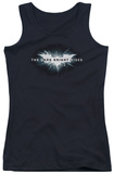 Juniors Tank Top: Dark Knight Rises - Cracked Bat Logo Tank Top