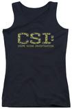 Juniors Tank Top: CSI - Collage Logo Tank Top