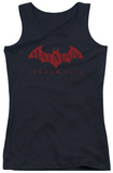 Juniors Tank Top: Arkham City - Red Bat Tank Top