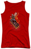 Juniors Tank Top: Dark Knight Rises - Bane On Fire Tank Top