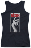 Juniors Tank Top: Stax Distressed Tank Top