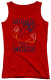 Juniors Tank Top: Mighy Mouse - Break The Box Tank Top