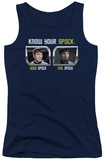 Juniors Tank Top: St Original - Know Your Spock Tank Top
