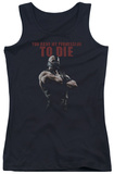Juniors Tank Top: Dark Knight Rises - Permission To Die Tank Top