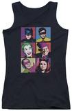 Juniors Tank Top: Batman Classic TV - Pop Cast Tank Top