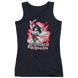 Juniors Tank Top: Wonder Woman - Wonder Woman Red & Gray Tank Top