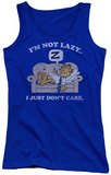 Juniors Tank Top: Garfield - Not Lazy Tank Top