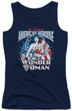 Juniors Tank Top: Wonder Woman - American Heroine Tank Top