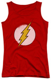 Juniors Tank Top: DC Comics - Rough Flash Logo Tank Top