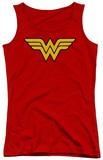 Juniors Tank Top: DC Comics - Wonder Woman Logo Tank Top