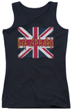 Juniors Tank Top: Def Leppard - Union Jack Tank Top