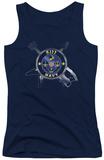 Juniors Tank Top: Kiss - Navy Logo Tank Top