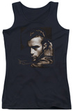 Juniors Tank Top: James Dean - Brown Leather Tank Top