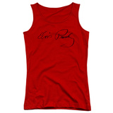 Juniors Tank Top: Elvis - Signature Sketch Womens Tank Tops
