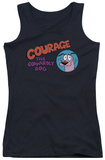 Juniors Tank Top: Courage The Cowardly Dog - Courage Logo Tank Top