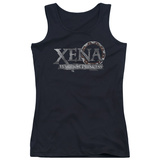 Juniors Tank Top: Xena - Battered Logo Tank Top