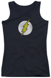 Juniors Tank Top: The Flash - Flash Logo Distressed Tank Top