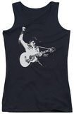 Juniors Tank Top: Elvis - Black & White Guitar Man Tank Top