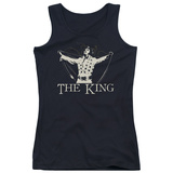 Juniors Tank Top: Elvis - Ornate King Tank Top