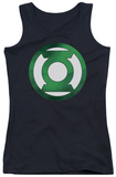 Juniors Tank Top: Green Lantern - Green Chrome Logo Tank Top