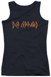 Juniors Tank Top: Def Leppard - Horizontal Logo Tank Top