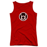 Juniors Tank Top: Green Lantern - Red Lantern Logo Tank Top