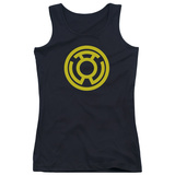 Juniors Tank Top: Green Lantern - Yellow Emblem Tank Top