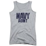Juniors Tank Top: Navy - Aunt Womens Tank Tops