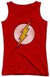 Juniors Tank Top: The Flash - Flash Logo Distressed Tank Top