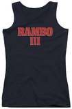 Juniors Tank Top: Rambo III - Logo Tank Top