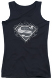Juniors Tank Top: Superman - Biker Metal Tank Top