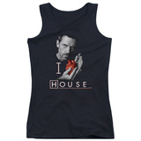 Juniors Tank Top: House - I Heart House Womens Tank Tops