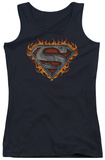 Juniors Tank Top: Superman - Iron Fire Shield Tank Top