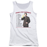 Juniors Tank Top: Monk - Top 10 Phobias Womens Tank Tops