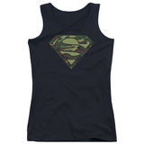 Juniors Tank Top: Superman - Camo Logo Womens Tank Tops