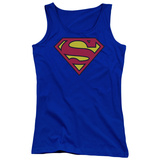 Juniors Tank Top: Superman - Classic Logo Womens Tank Tops