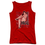 Juniors Tank Top: Bettie Page - Retro Hot Tank Top